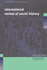 International Review of Social History Volume 63 - Issue 1 -