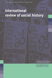 International Review of Social History Volume 63 - Issue 2 -