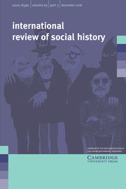 International Review of Social History Volume 63 - Issue 3 -