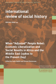 """International Review of Social History Volume 66 - Special IssueS29 -  When """"Adjusted"""" People Rebel: Economic Liberalization and Social Revolts in Africa and the Middle East (1980s to the Present Day)"""