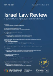 Israel Law Review Volume 50 - Issue 3 -