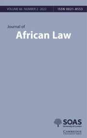 Journal of African Law