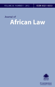 Journal of African Law Volume 56 - Issue 1 -