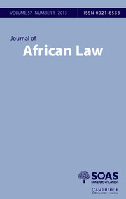 Journal of African Law Volume 57 - Issue 1 -