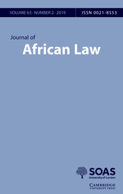 Journal of African Law Volume 63 - Issue 2 -