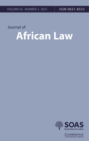 Journal of African Law Volume 65 - Issue 2 -