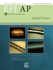 The European Physical Journal - Applied Physics Volume 54 - Issue 1 -
