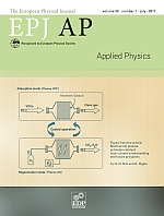 The European Physical Journal - Applied Physics Volume 55 - Issue 1 -  Focus on Hakone XII