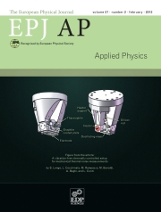 The European Physical Journal - Applied Physics Volume 57 - Issue 2 -