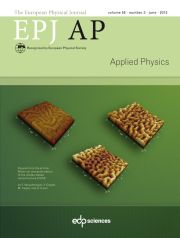The European Physical Journal - Applied Physics Volume 58 - Issue 3 -