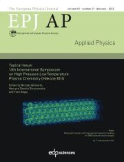 The European Physical Journal - Applied Physics Volume 61 - Issue 2 -  Topical issue: 13th International Symposium on High Pressure Low Temperature Plasma Chemistry (Hakone XIII). Edited by Nicolas Gherardi, Henryca Danuta Stryczewska and Yvan Ségui