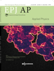 The European Physical Journal - Applied Physics Volume 64 - Issue 3 -