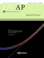 The European Physical Journal - Applied Physics Volume 67 - Issue 1 -