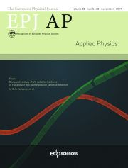 The European Physical Journal - Applied Physics Volume 68 - Issue 2 -