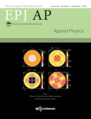 The European Physical Journal - Applied Physics Volume 68 - Issue 3 -