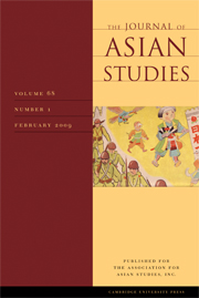 The Journal of Asian Studies Volume 68 - Issue 1 -