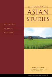 The Journal of Asian Studies Volume 69 - Issue 2 -