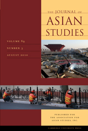 The Journal of Asian Studies Volume 69 - Issue 3 -