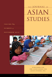 The Journal of Asian Studies Volume 69 - Issue 4 -