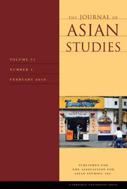 The Journal of Asian Studies Volume 71 - Issue 1 -