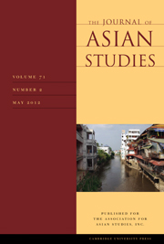 The Journal of Asian Studies Volume 71 - Issue 2 -