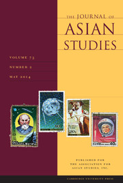 The Journal of Asian Studies Volume 73 - Issue 2 -