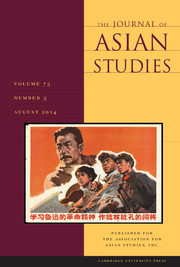 The Journal of Asian Studies Volume 73 - Issue 3 -