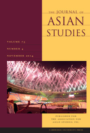 The Journal of Asian Studies Volume 73 - Issue 4 -