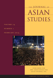 The Journal of Asian Studies Volume 74 - Issue 1 -