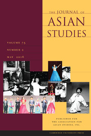 The Journal of Asian Studies Volume 75 - Issue 2 -