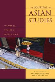 The Journal of Asian Studies Volume 75 - Issue 3 -