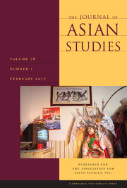 The Journal of Asian Studies Volume 76 - Issue 1 -