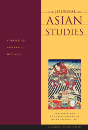 The Journal of Asian Studies Volume 76 - Issue 2 -