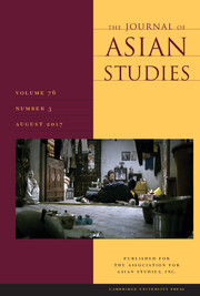 The Journal of Asian Studies Volume 76 - Issue 3 -