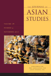 The Journal of Asian Studies Volume 76 - Issue 4 -