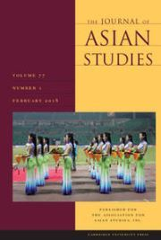 The Journal of Asian Studies Volume 77 - Issue 1 -