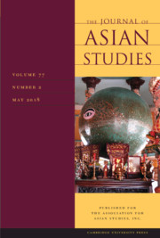 The Journal of Asian Studies Volume 77 - Issue 2 -