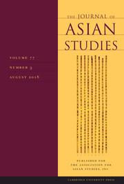 The Journal of Asian Studies Volume 77 - Issue 3 -