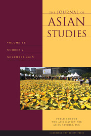 The Journal of Asian Studies Volume 77 - Issue 4 -