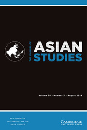The Journal of Asian Studies Volume 78 - Issue 3 -