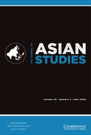 The Journal of Asian Studies Volume 79 - Issue 2 -