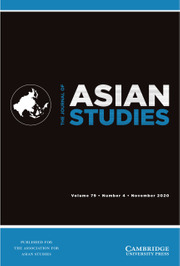 The Journal of Asian Studies Volume 79 - Issue 4 -