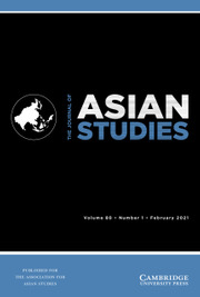 The Journal of Asian Studies Volume 80 - Issue 1 -