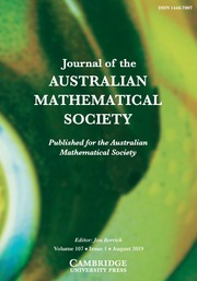 Journal of the Australian Mathematical Society Volume 107 - Issue 1 -