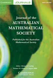 Journal of the Australian Mathematical Society Volume 85 - Issue 1 -