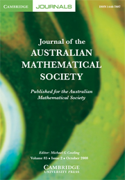 Journal of the Australian Mathematical Society Volume 85 - Issue 2 -