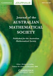 Journal of the Australian Mathematical Society Volume 85 - Issue 3 -