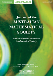 Journal of the Australian Mathematical Society Volume 88 - Issue 1 -