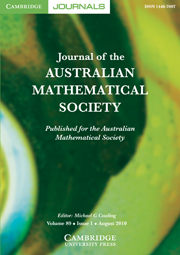 Journal of the Australian Mathematical Society Volume 89 - Issue 1 -
