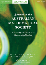 Journal of the Australian Mathematical Society Volume 92 - Issue 1 -